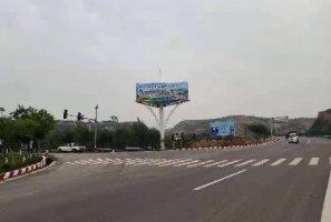 广东省惠州市龙门县立柱三面广告牌